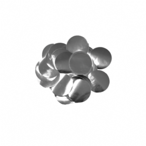 Metallic Silver Foil Confetti for Balloons | 10mm Round 50g Bag